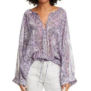 Nili Lotan | Paisley Silk Blouse